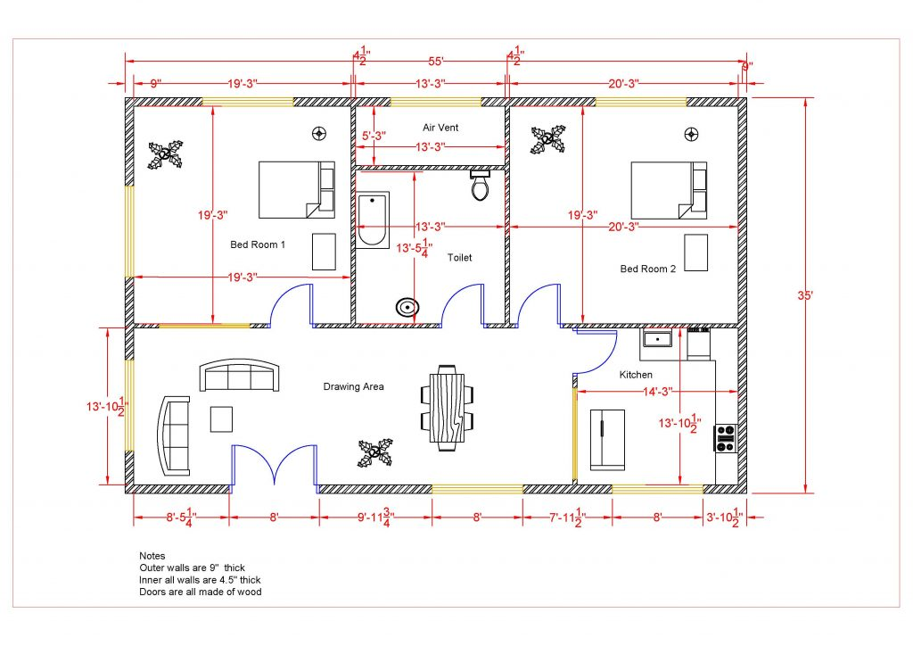 How To Make House Floor Plan In Autocad Learn